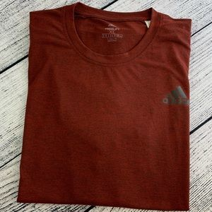 Adidas Free Lift Climalite Tee, XL, red heather.